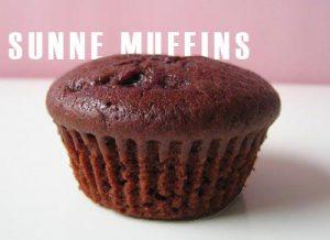 «Sunne» muffins med sjokoladesmak