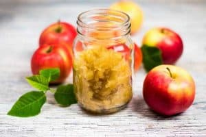 Hjemmelaget eplesyltetøy (melkesyregjæret)