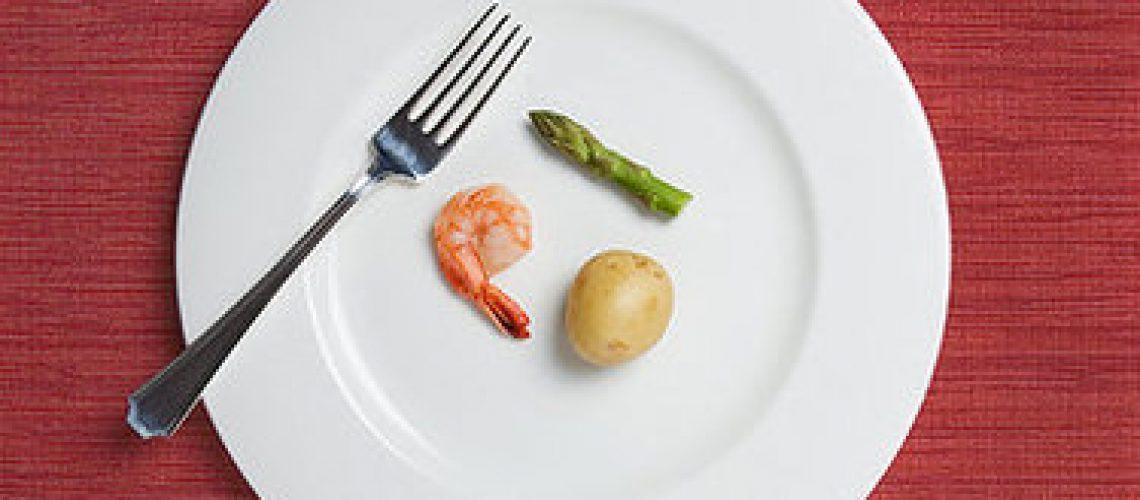 færre kalorier, spis mindre